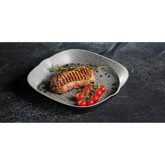 MC CA Сковорода для гриля алюминиевая с антипригарным покрытием квадратная  (арт. 720573)